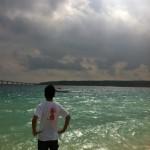 初日終了後の海